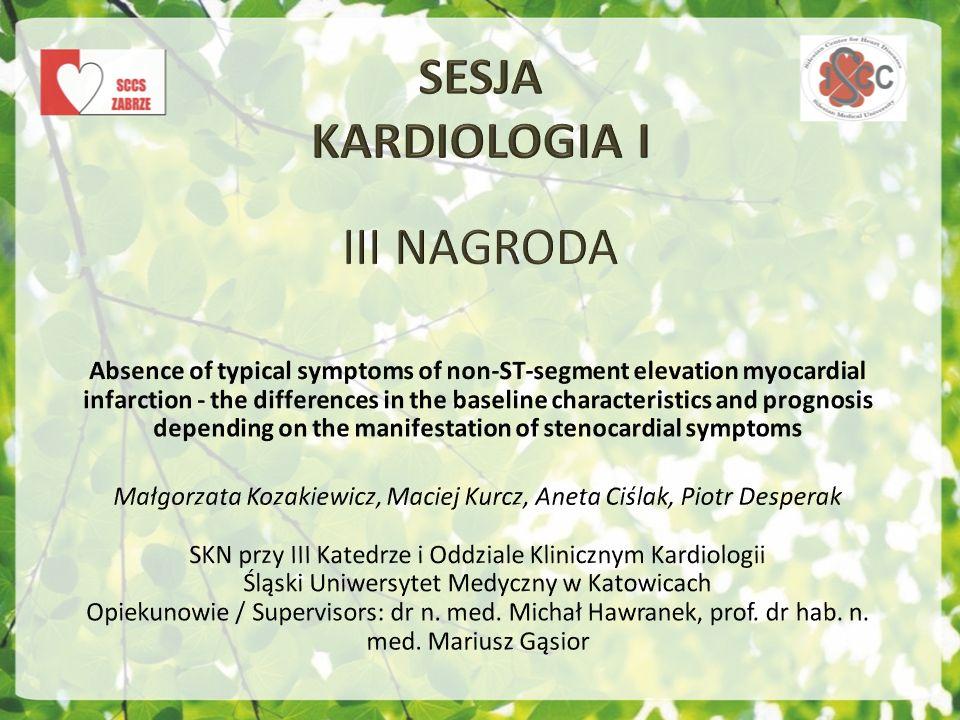 SESJA KARDIOLOGIA I III NAGRODA