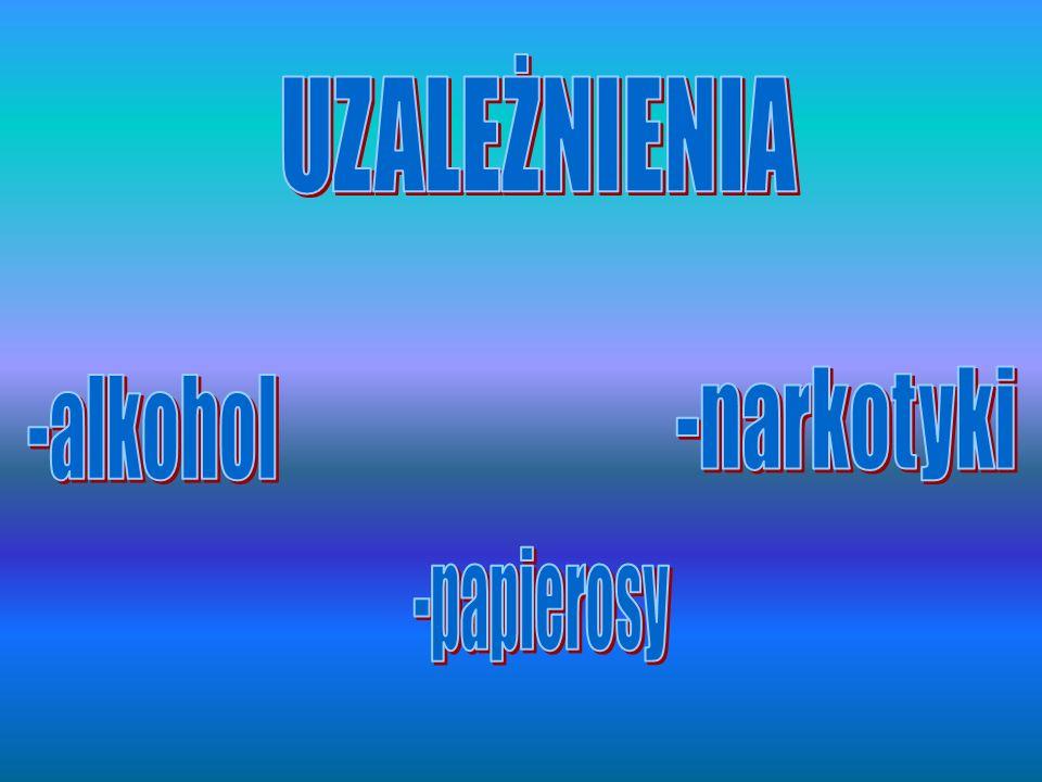 UZALEŻNIENIA -narkotyki -alkohol -papierosy