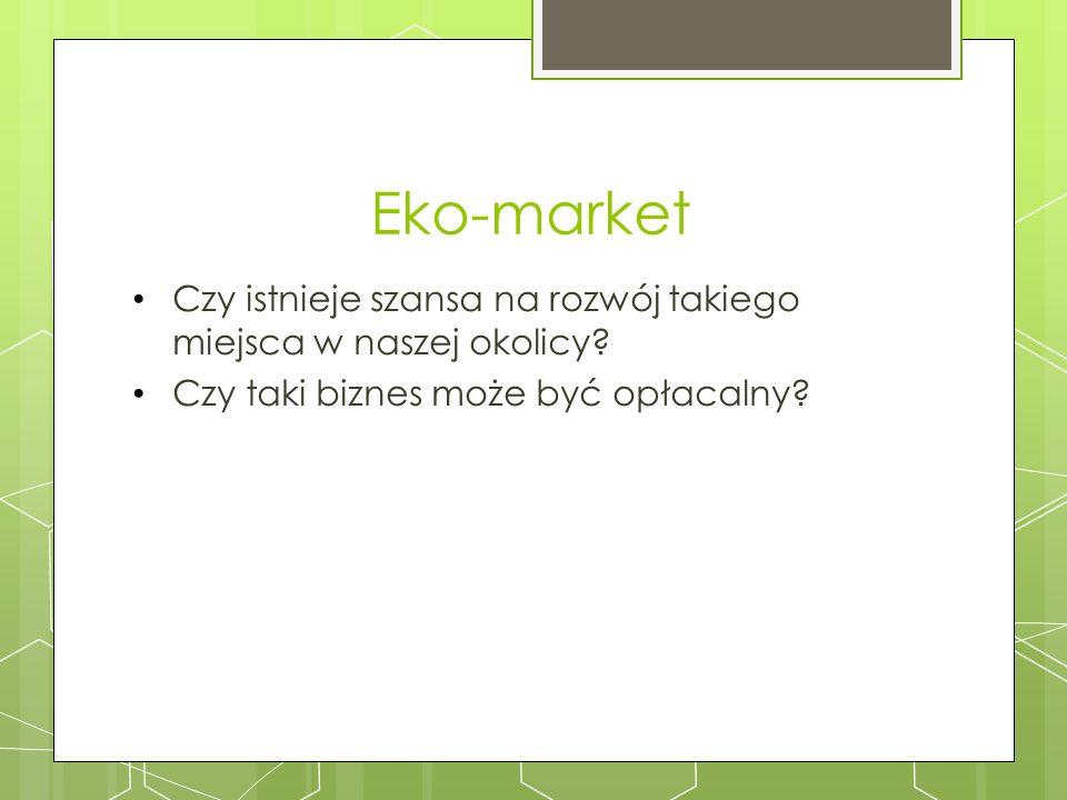Eko-market Czy istnieje szansa na rozwój takiego miejsca w naszej okolicy.