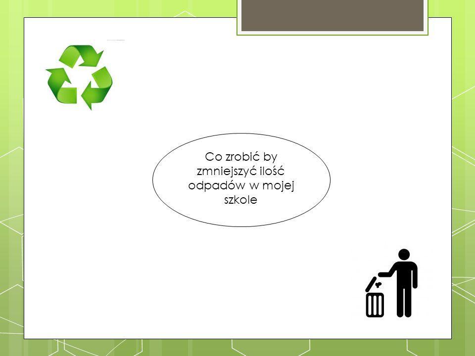 Co zrobić by zmniejszyć ilość odpadów w mojej szkole