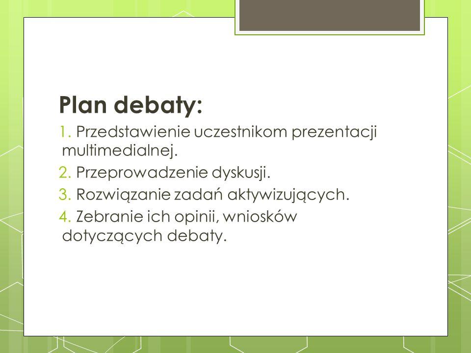 Plan debaty: Przedstawienie uczestnikom prezentacji multimedialnej.