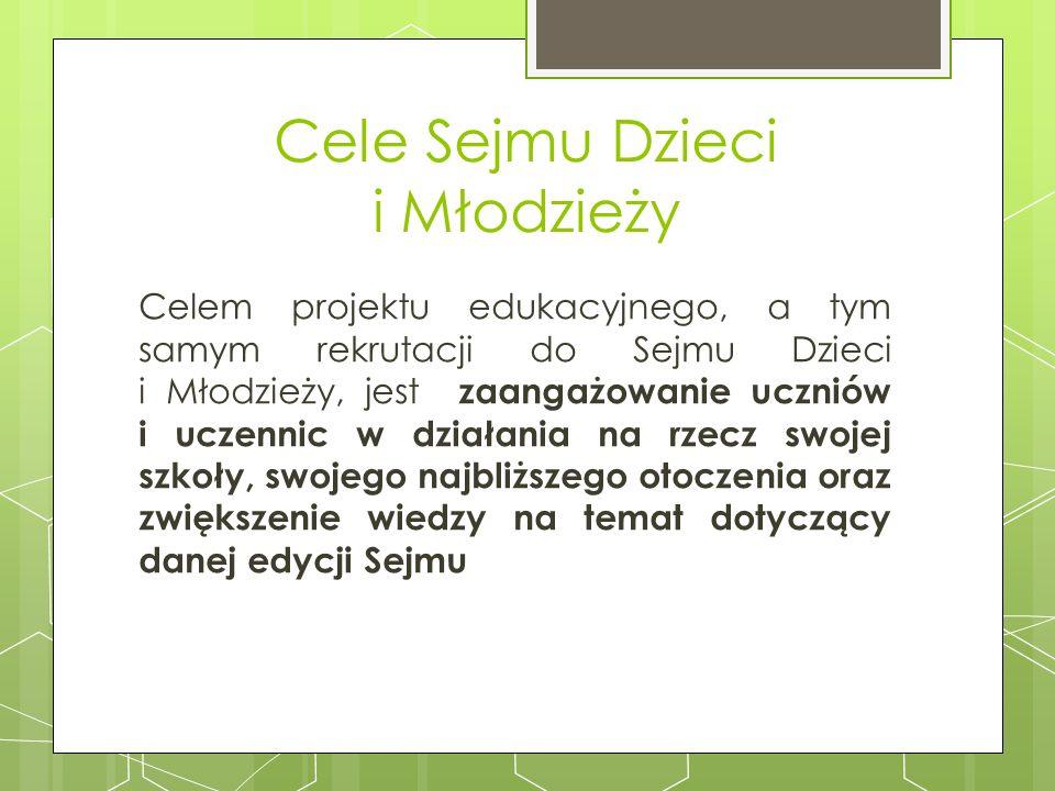 Cele Sejmu Dzieci i Młodzieży