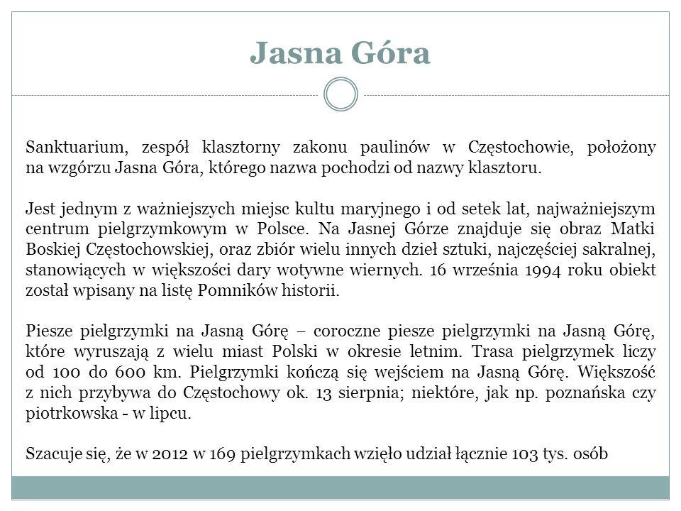 Jasna Góra Sanktuarium, zespół klasztorny zakonu paulinów w Częstochowie, położony na wzgórzu Jasna Góra, którego nazwa pochodzi od nazwy klasztoru.