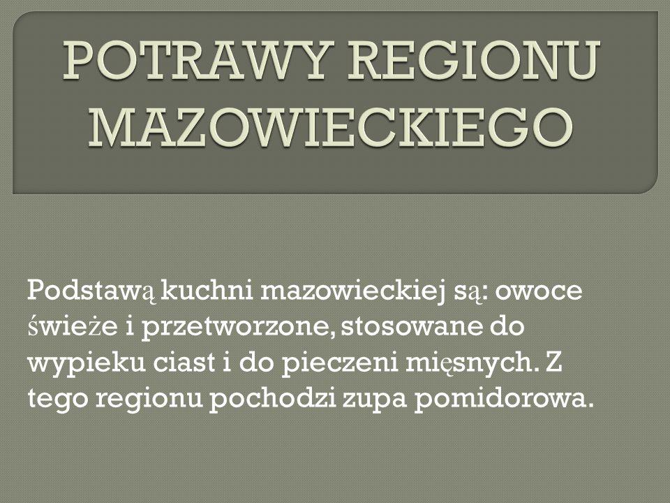 POTRAWY REGIONU MAZOWIECKIEGO