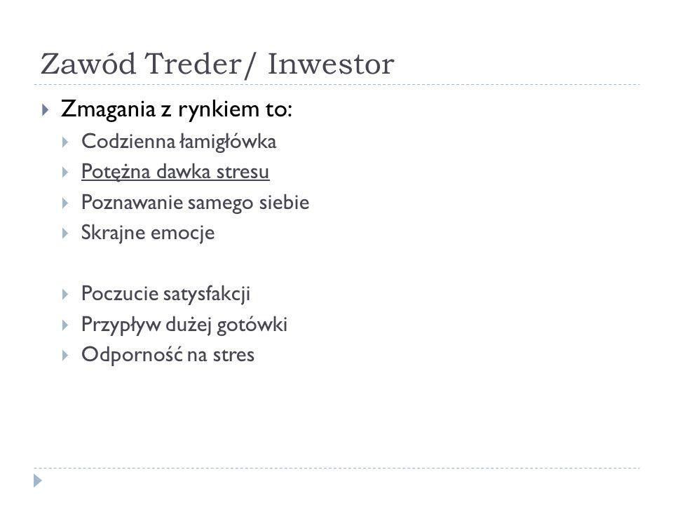Zawód Treder/ Inwestor