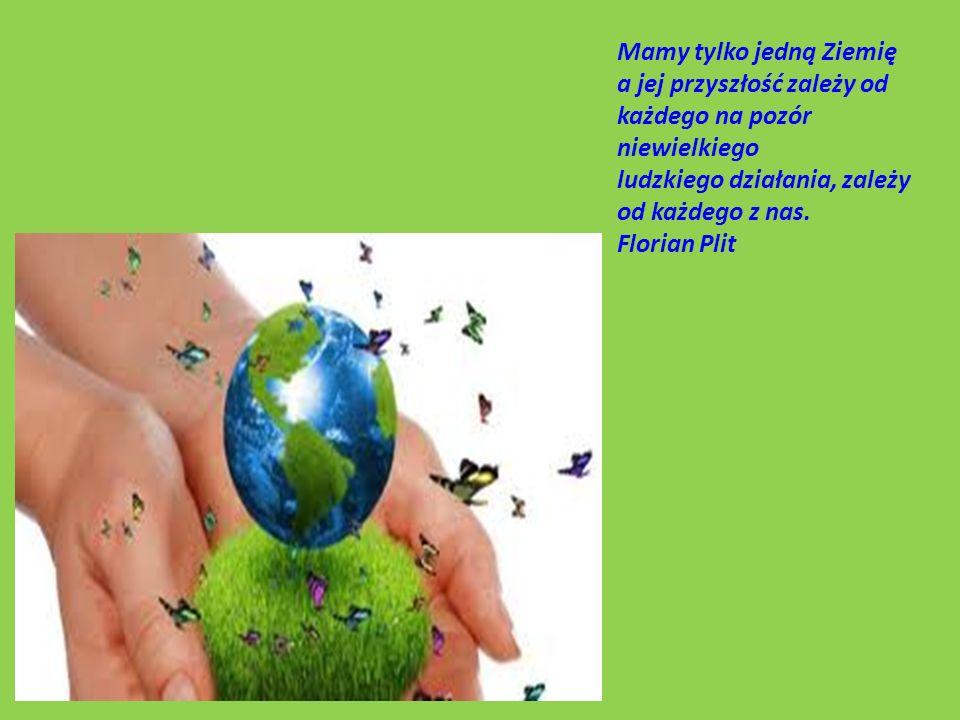 Mamy tylko jedną Ziemię a jej przyszłość zależy od każdego na pozór niewielkiego ludzkiego działania, zależy od każdego z nas.