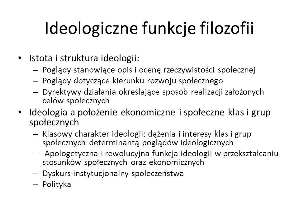 Ideologiczne funkcje filozofii