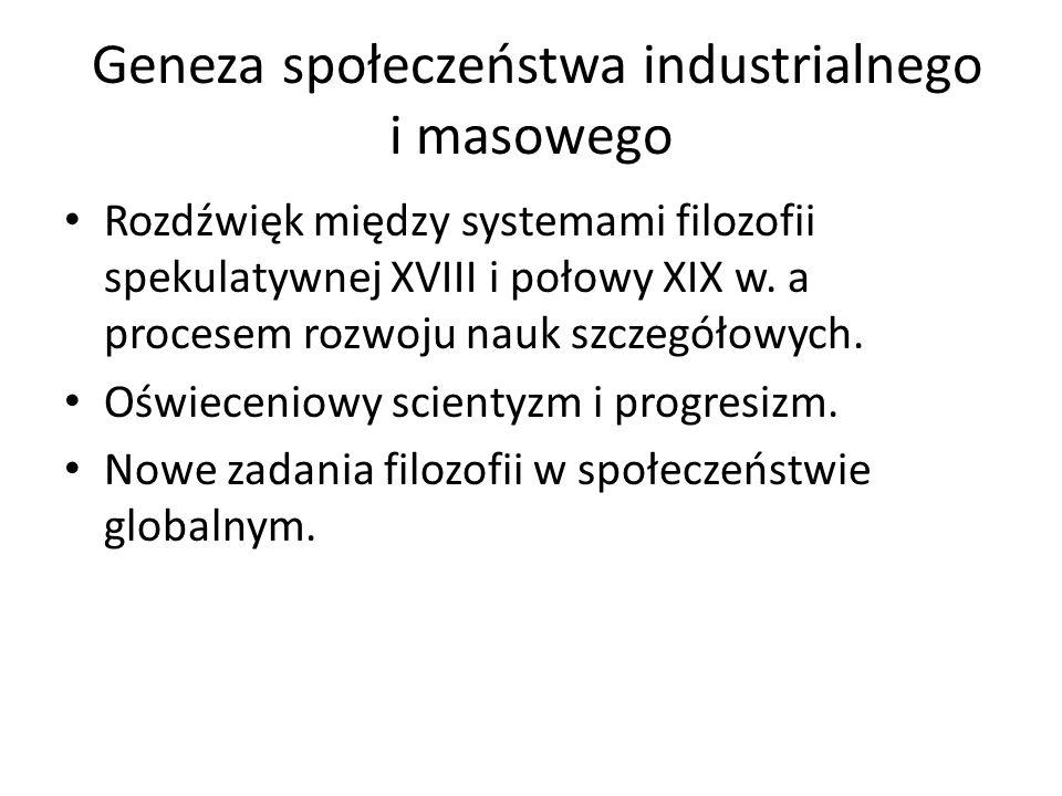 Geneza społeczeństwa industrialnego i masowego