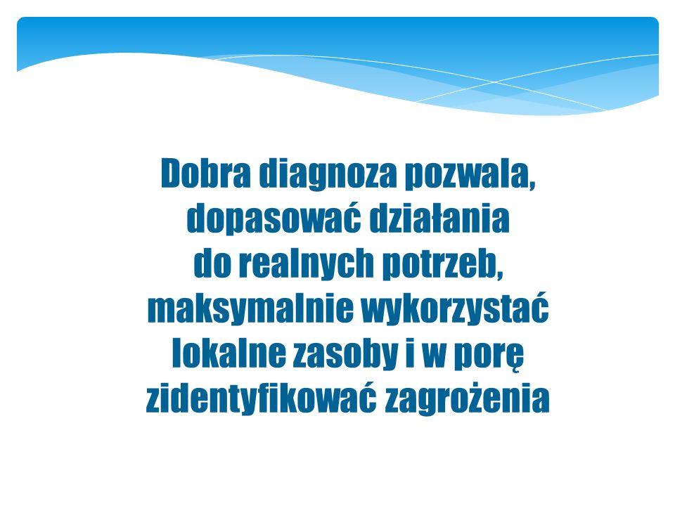 Dobra diagnoza pozwala, dopasować działania do realnych potrzeb,