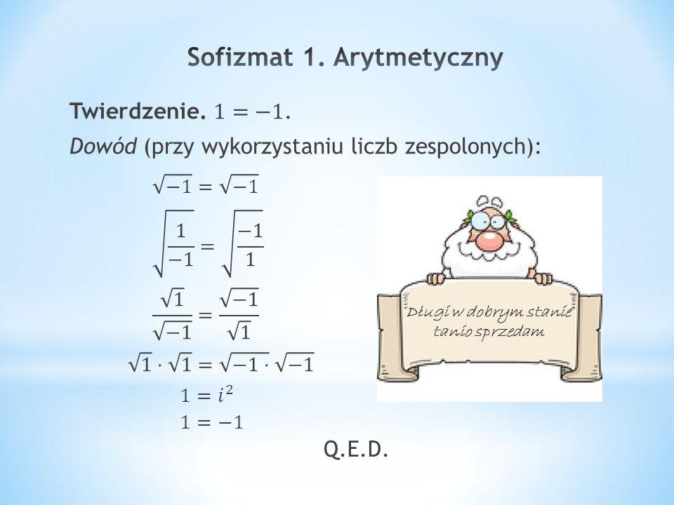 Sofizmat 1. Arytmetyczny