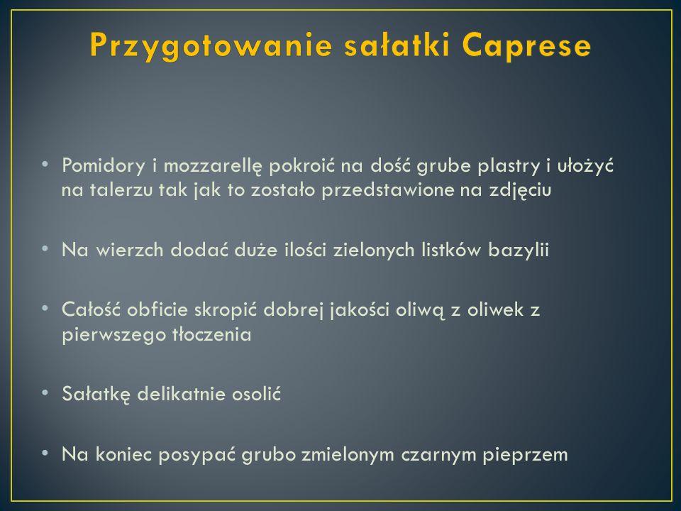 Przygotowanie sałatki Caprese