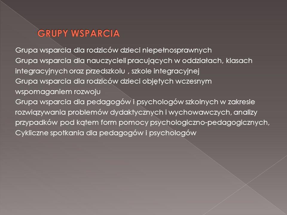 GRUPY WSPARCIA