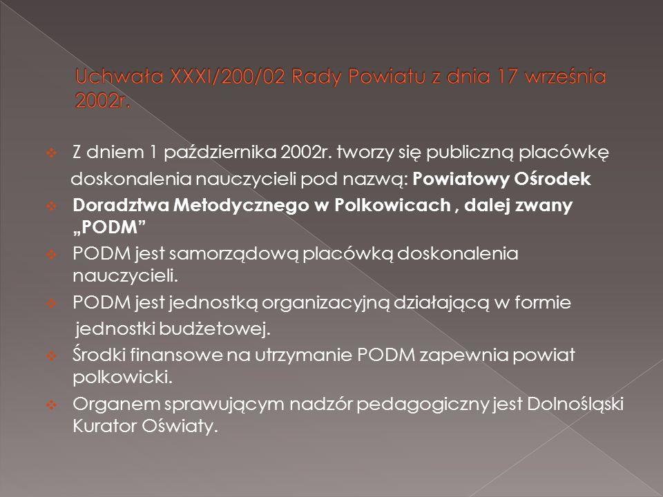 Uchwała XXXI/200/02 Rady Powiatu z dnia 17 września 2002r.