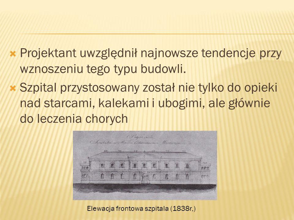 Elewacja frontowa szpitala (1838r,)