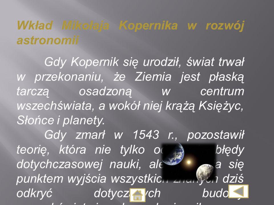 Wkład Mikołaja Kopernika w rozwój astronomii