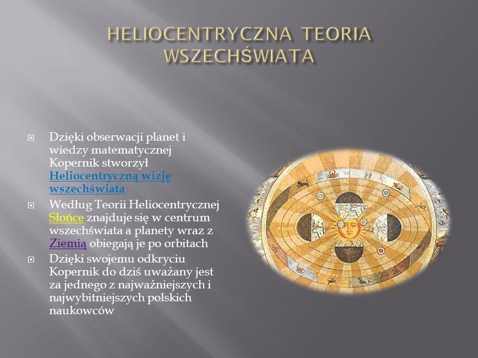 HELIOCENTRYCZNA TEORIA WSZECHŚWIATA