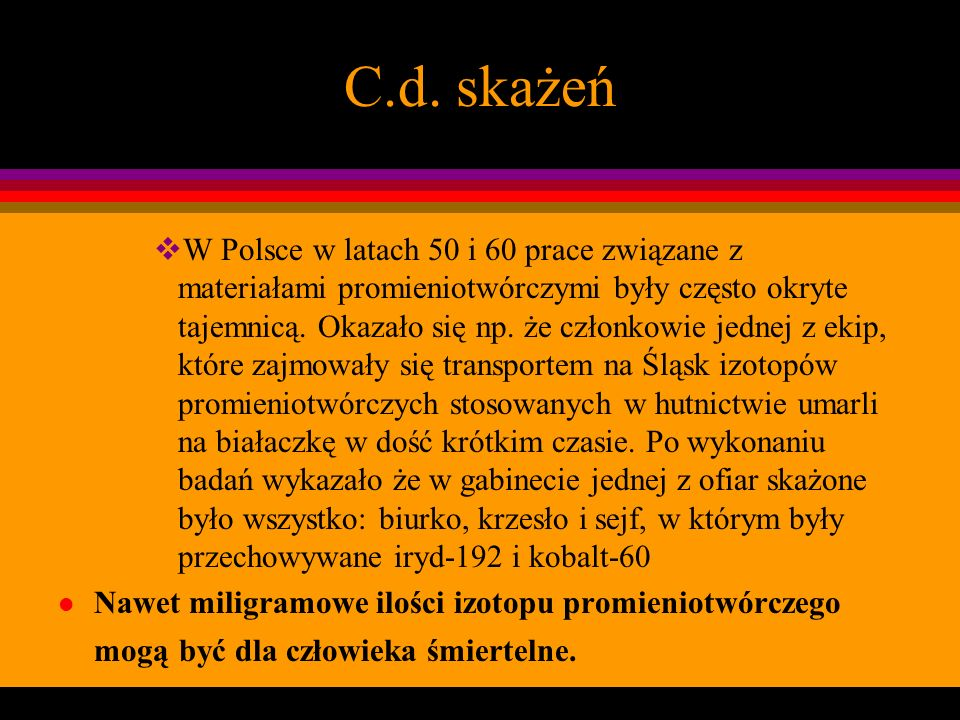 C.d. skażeń