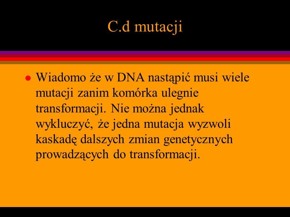 C.d mutacji