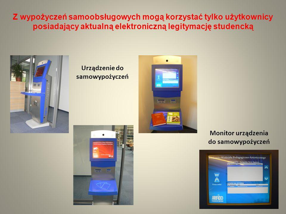 Urządzenie do samowypożyczeń Monitor urządzenia do samowypożyczeń