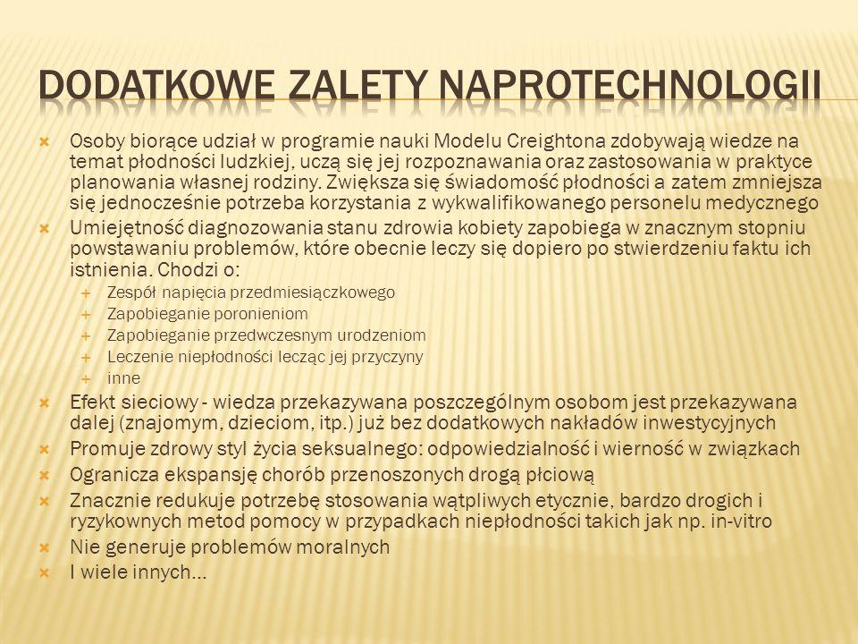 Dodatkowe zalety NaproTechnologii