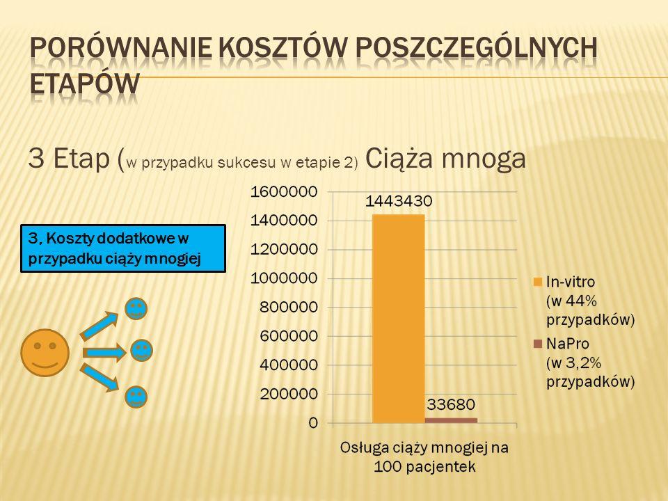 Porównanie kosztów poszczególnych etapów