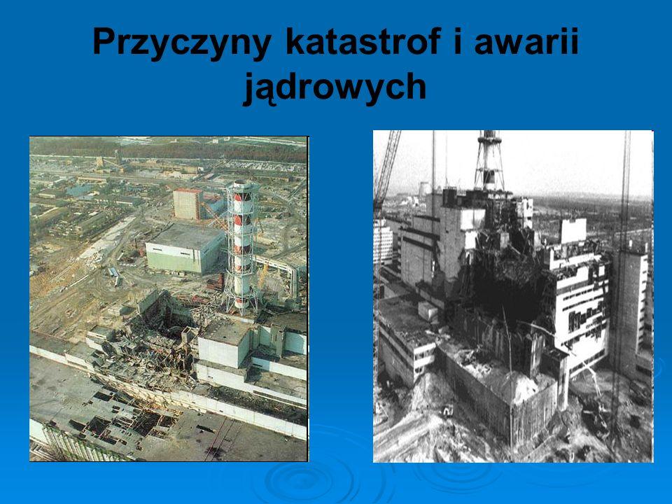 Przyczyny katastrof i awarii jądrowych