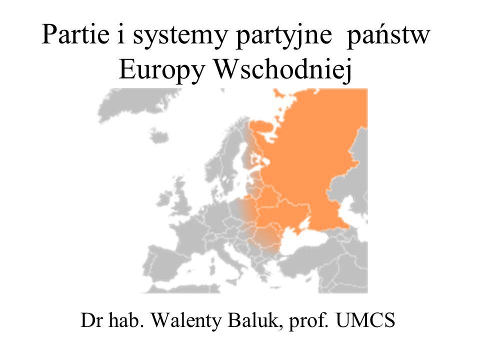 Partie i systemy partyjne państw Europy Wschodniej