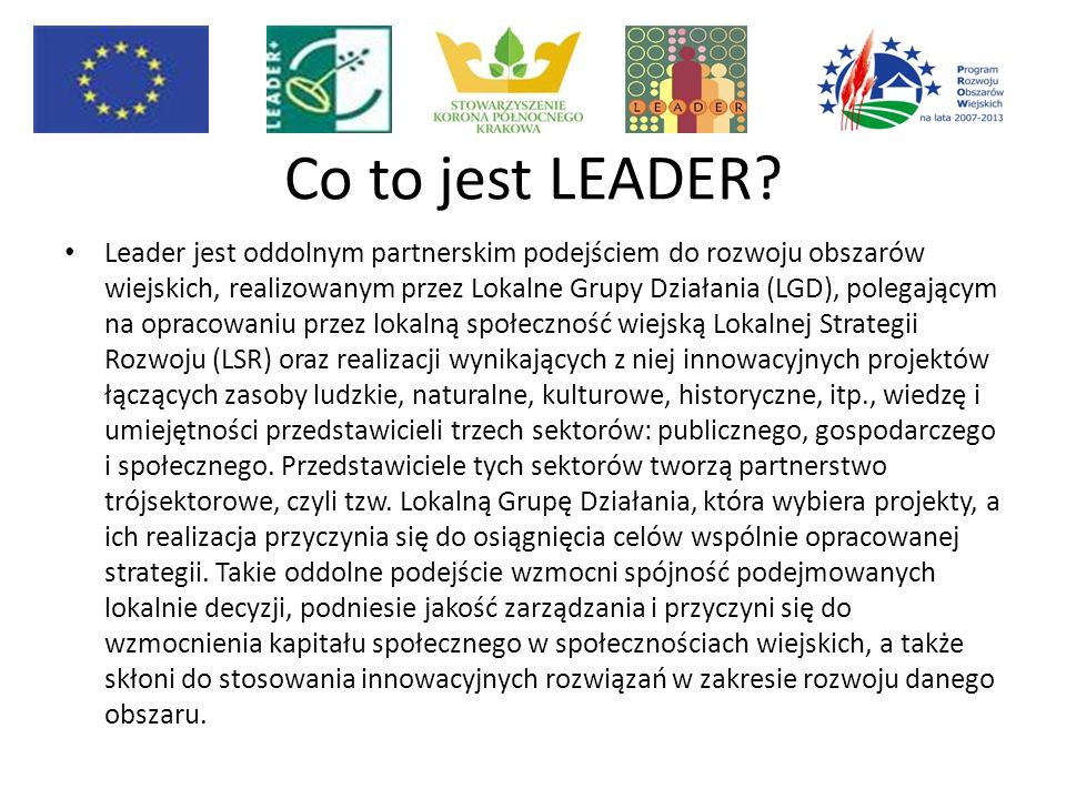 Co to jest LEADER