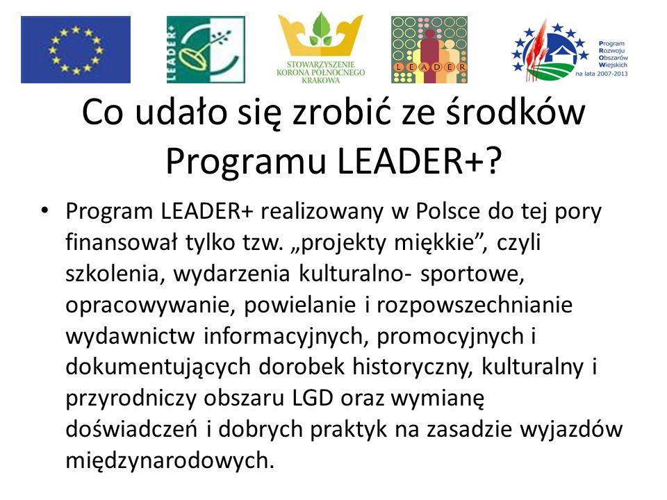 Co udało się zrobić ze środków Programu LEADER+