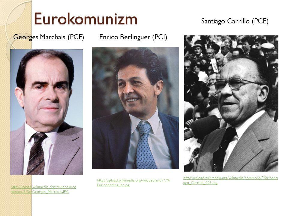 Eurokomunizm Santiago Carrillo (PCE) Georges Marchais (PCF)