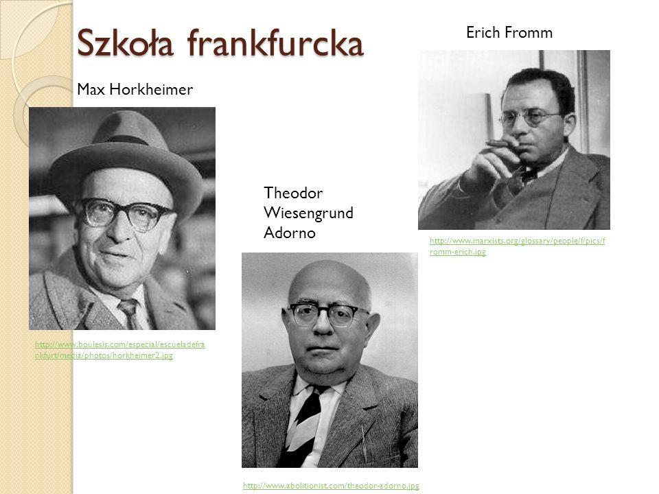 Szkoła frankfurcka Erich Fromm Max Horkheimer