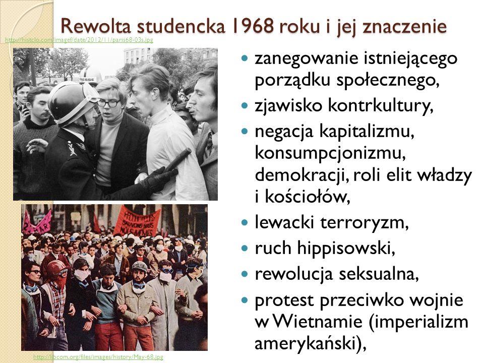 Rewolta studencka 1968 roku i jej znaczenie