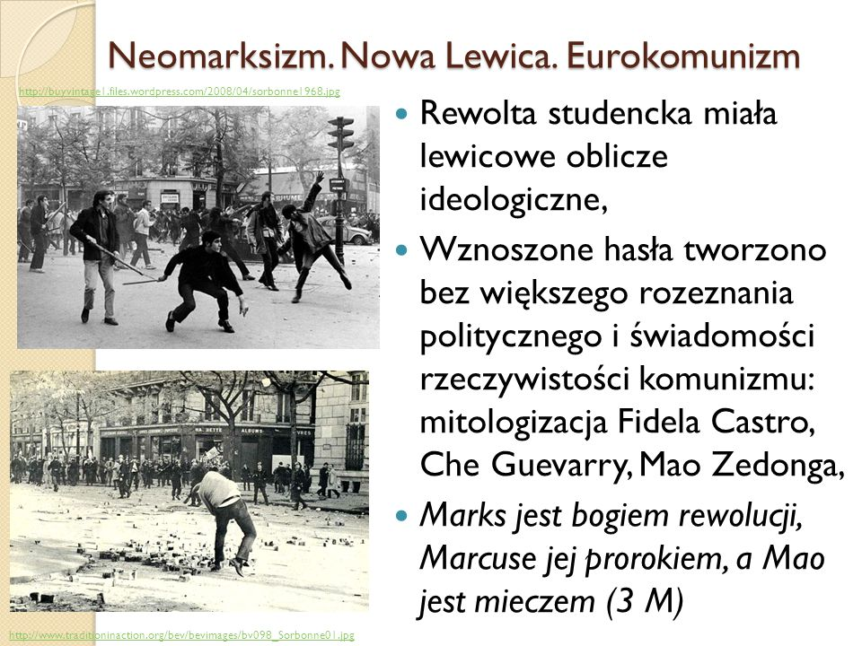 Neomarksizm. Nowa Lewica. Eurokomunizm