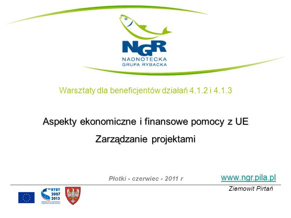 Aspekty ekonomiczne i finansowe pomocy z UE Zarządzanie projektami