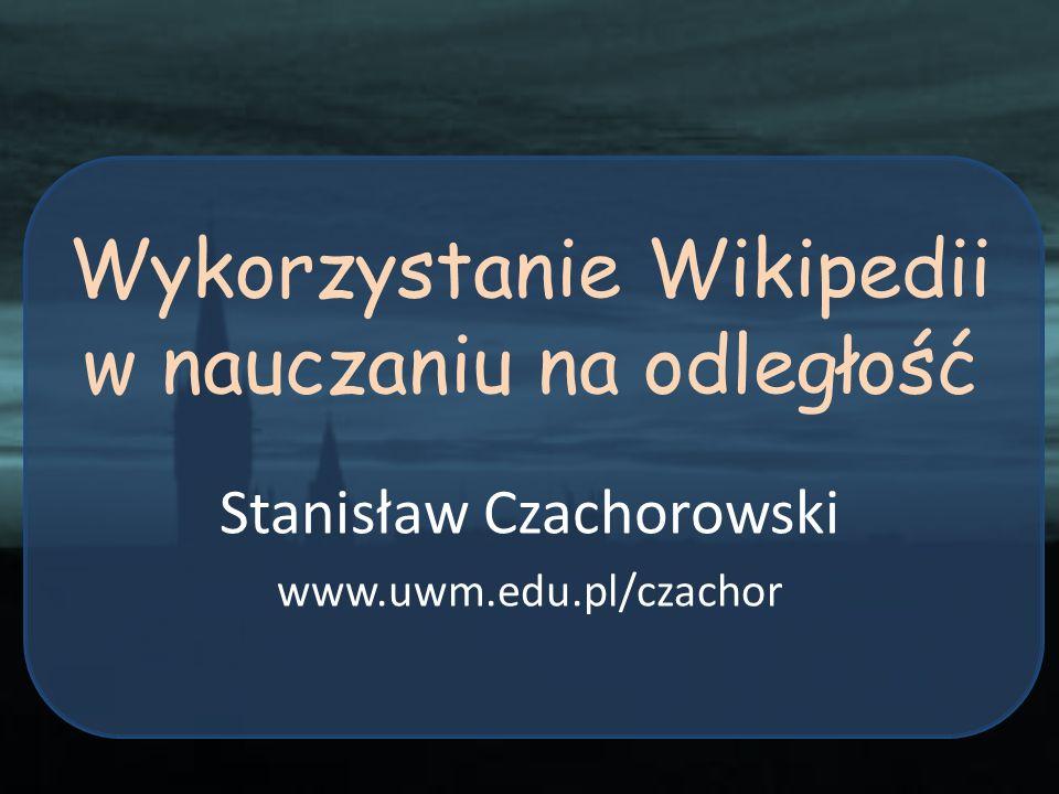 Wykorzystanie Wikipedii w nauczaniu na odległość