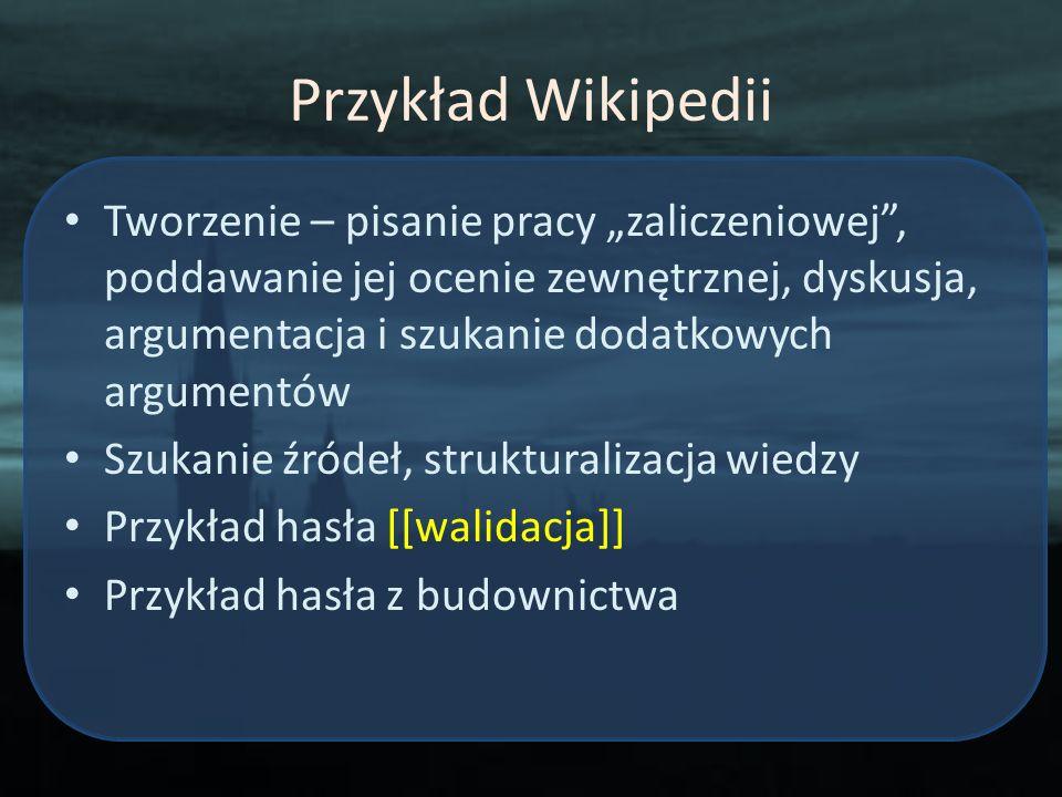 Przykład Wikipedii
