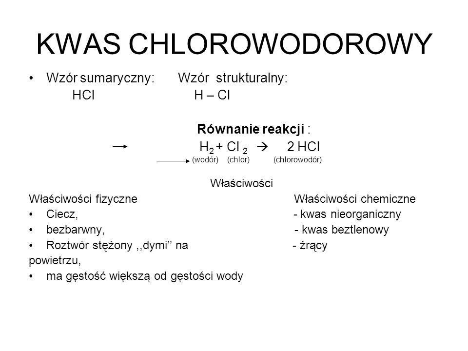 (wodór) (chlor) (chlorowodór)