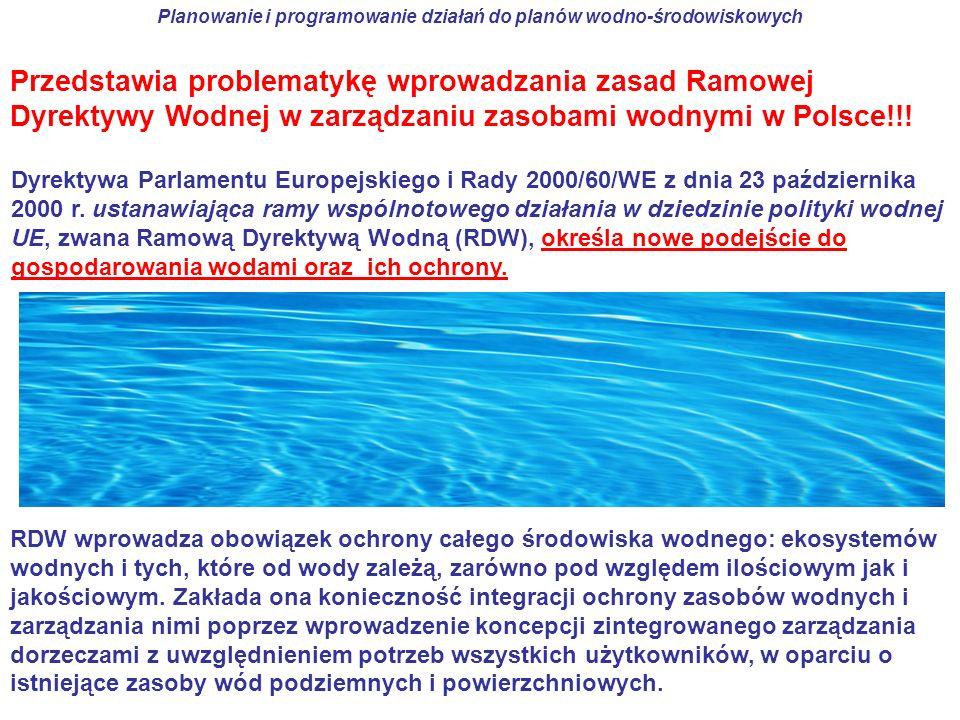 Planowanie i programowanie działań do planów wodno-środowiskowych