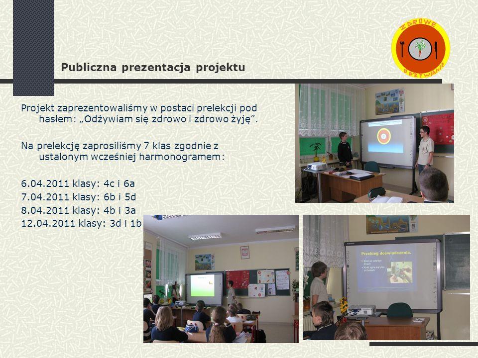 Publiczna prezentacja projektu