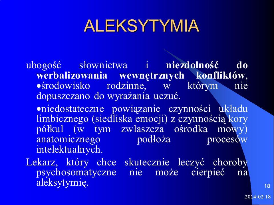 ALEKSYTYMIA