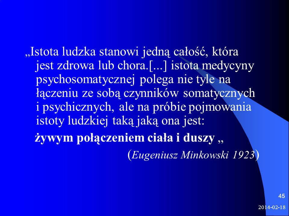 """żywym połączeniem ciała i duszy """" (Eugeniusz Minkowski 1923)"""