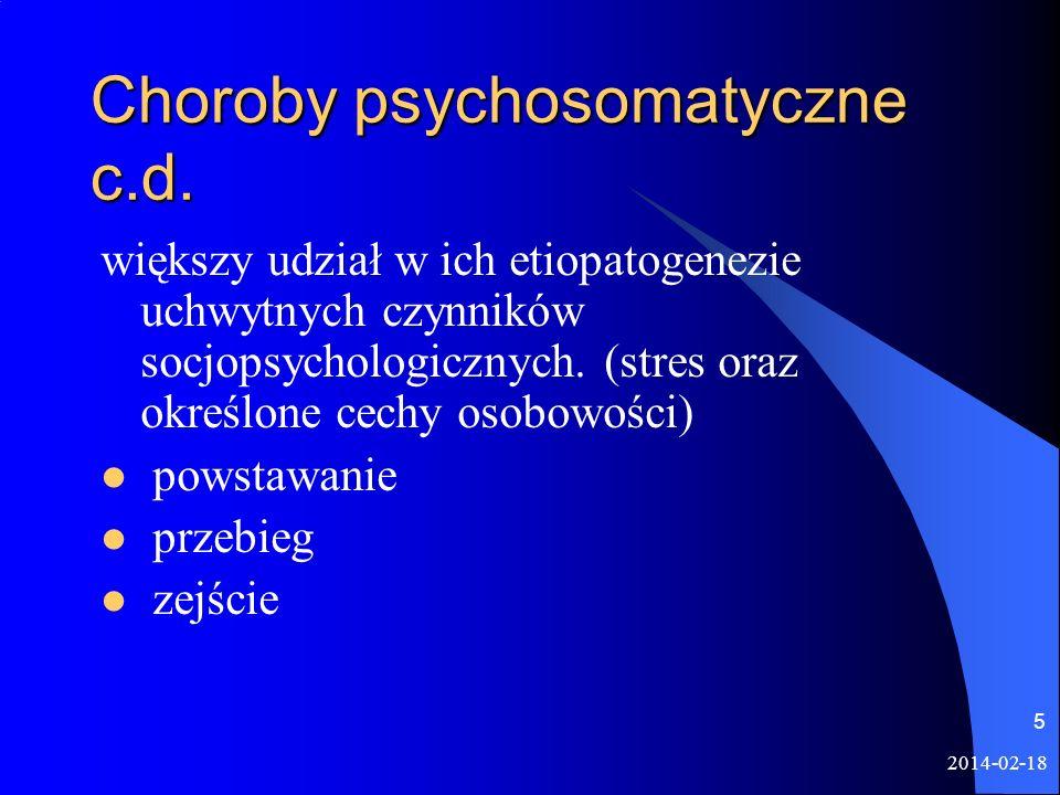 Choroby psychosomatyczne c.d.