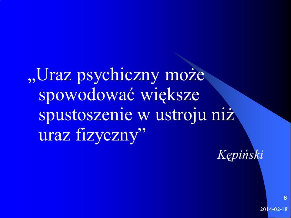 """""""Uraz psychiczny może spowodować większe spustoszenie w ustroju niż uraz fizyczny"""