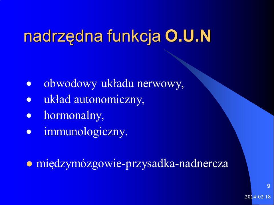 nadrzędna funkcja O.U.N · obwodowy układu nerwowy,