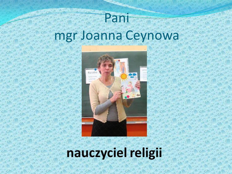 Pani mgr Joanna Ceynowa