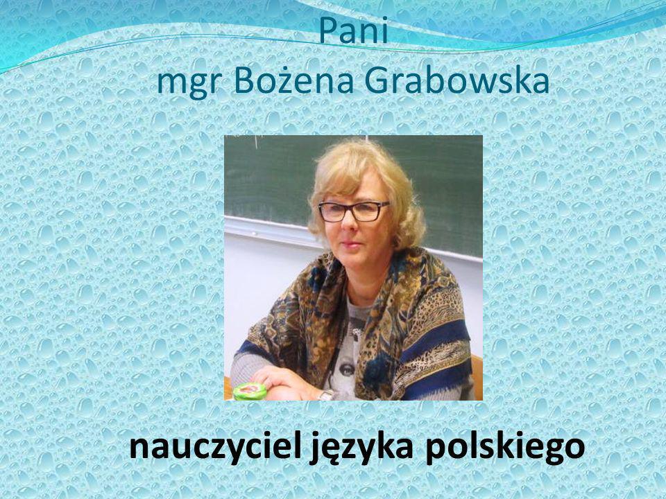 Pani mgr Bożena Grabowska