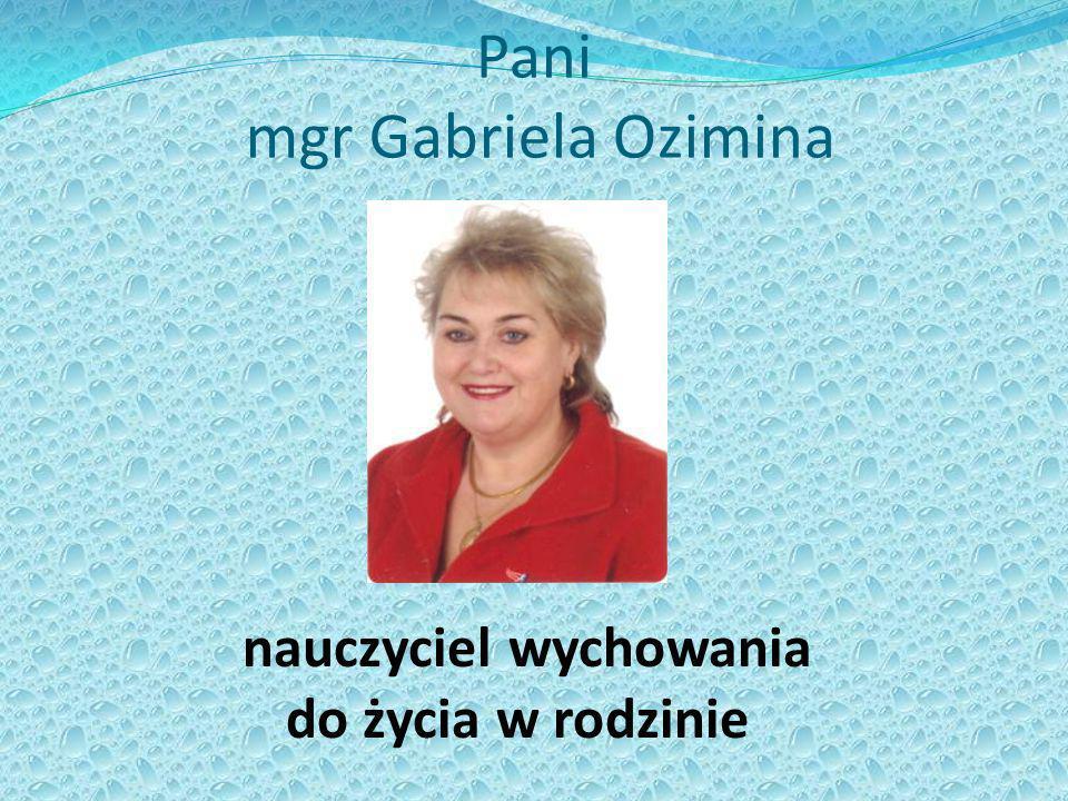 Pani mgr Gabriela Ozimina