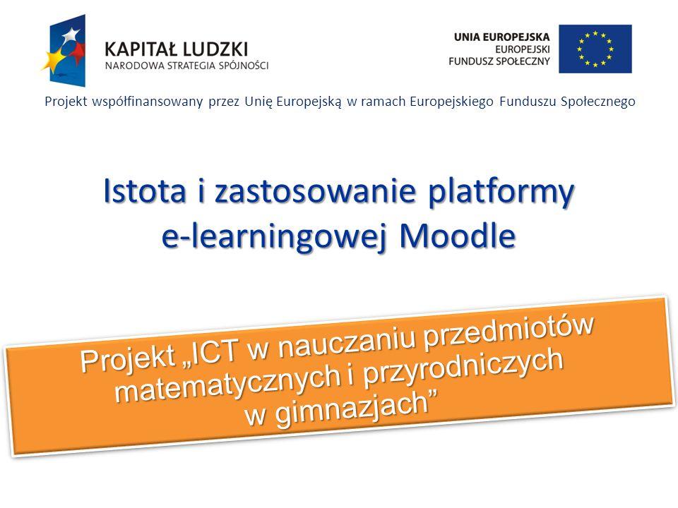 Istota i zastosowanie platformy e-learningowej Moodle