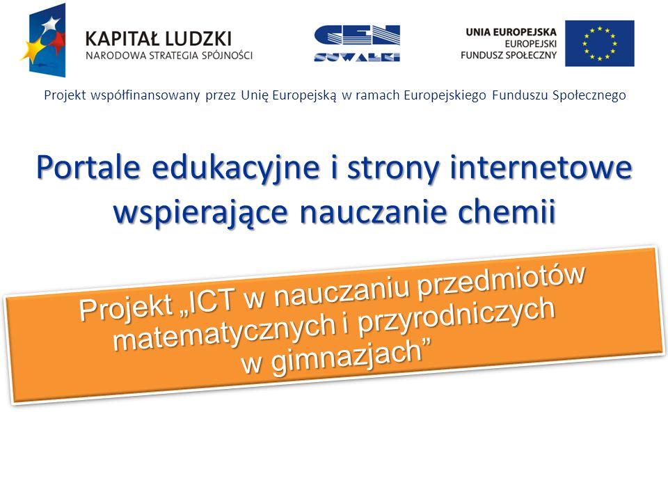 Portale edukacyjne i strony internetowe wspierające nauczanie chemii