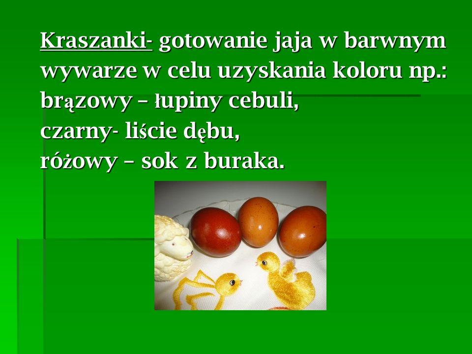Kraszanki- gotowanie jaja w barwnym